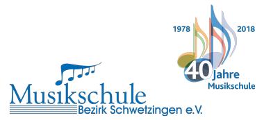 Musikschule Bezirk Schwetzingen - Logo 40 Jahre