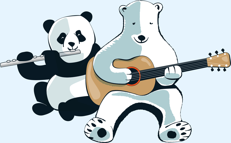Musikschule Bezirk Schwetzingen Panda und Baer